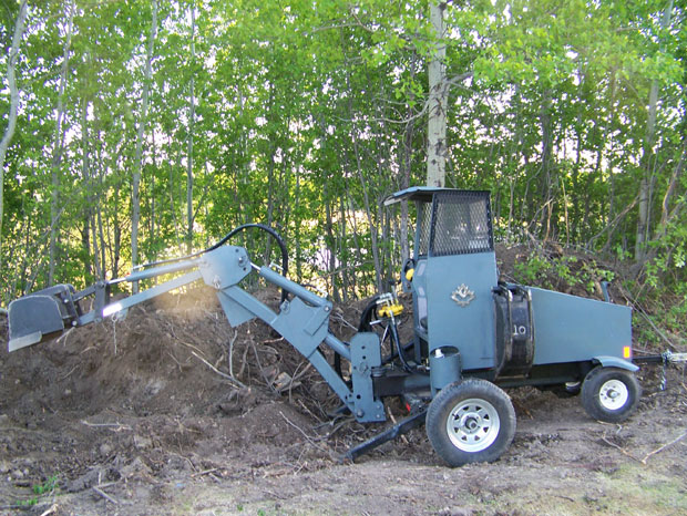 home made backhoe plans