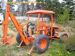 Homemade diggers, homebuilt excavators, towable diggers